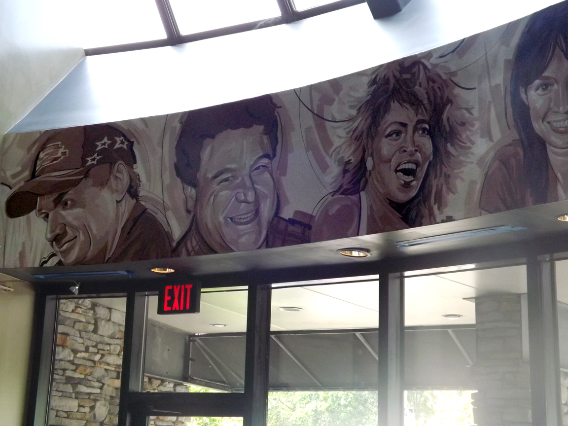New celebrity mural displayed at the j buck s clayton for Celebrity mural